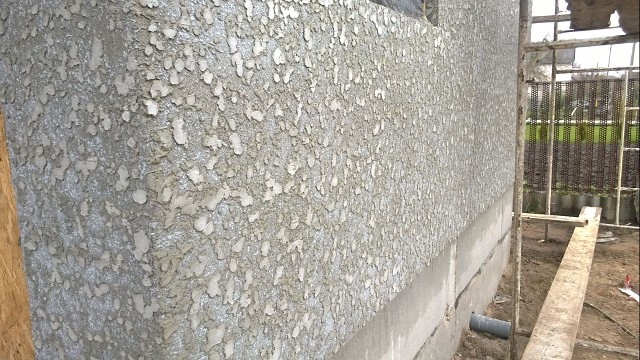 штукатурка барашек на здании