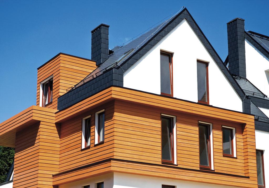 комбинированный сайдинг на фасаде