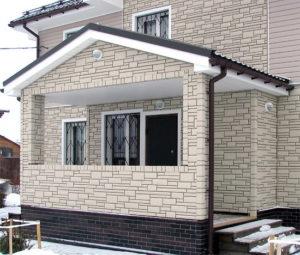 облицовка фасада под камень