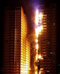 Как горит фасад