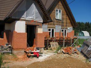 обкладка деревянного дома облицовочным кирпичом