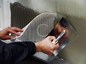 как монтировать армирующую сетку на фасад