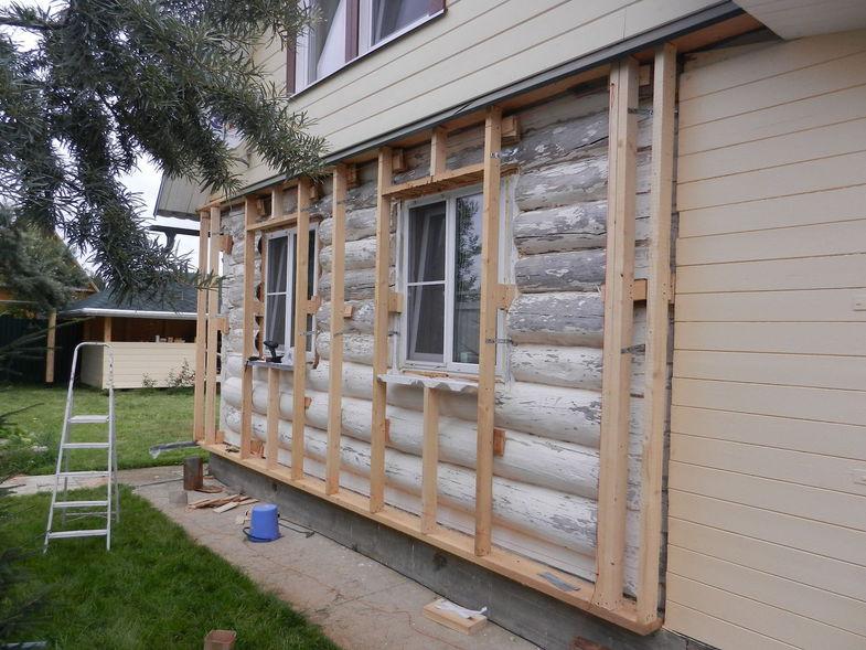 отделка брусового дома снаружи