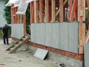 монтаж цсп на стены каркасного дома