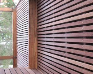 реечный фасад из планкена