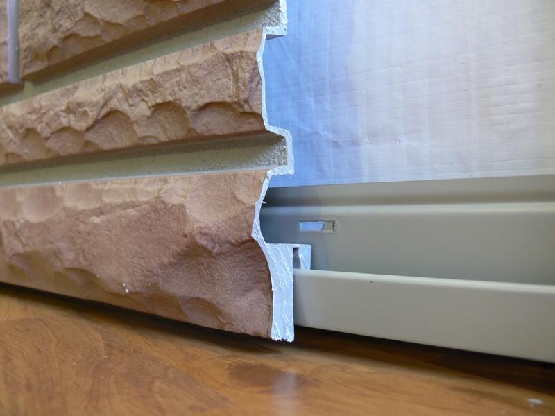 Пластиковые панели для цоколя дома монтаж