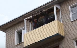 Как обшить балкон сайдингом снаружи своими руками