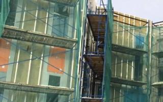 Укрывочная строительная фасадная сетка: виды, материалы изготовления