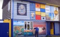 Рисунки и узоры на фасадах домов