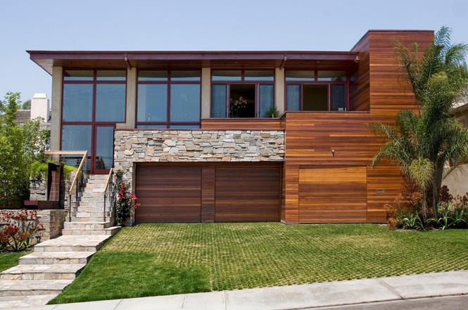 Кобинирование фасадных материалов