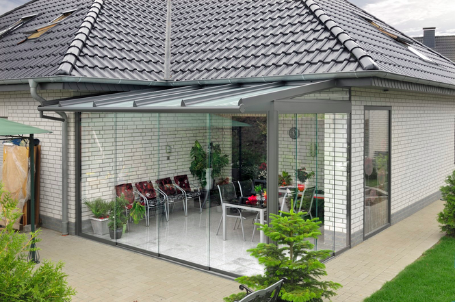 Зимний сад частного дома