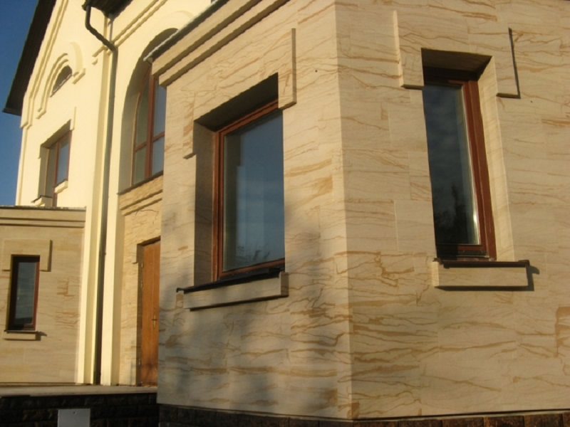Гибкий камень на фасаде