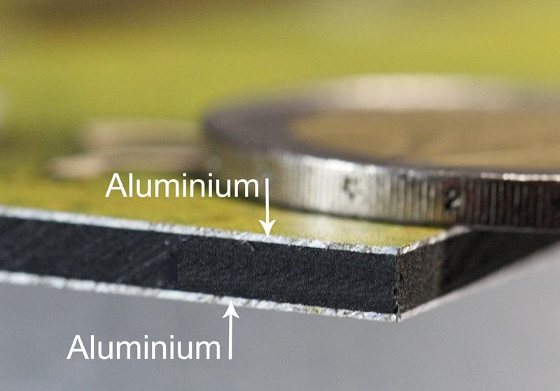 Слои алюминиевого листа