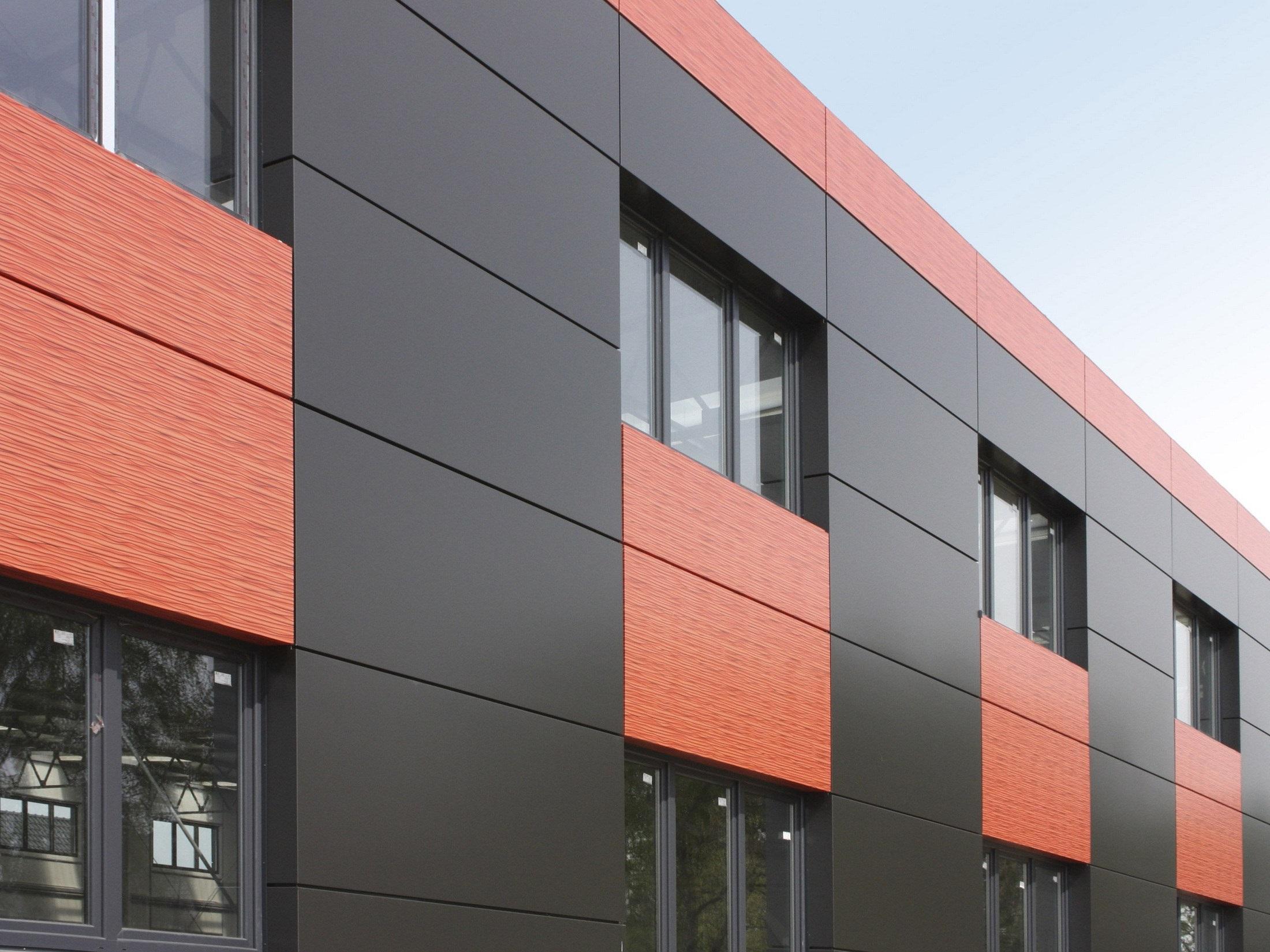 Фасад из комбинированного алюминиевого листа
