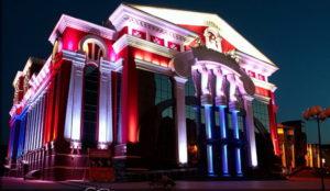 Архитектурная лазерная подсветка
