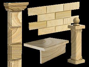 камень песчаник для фасада