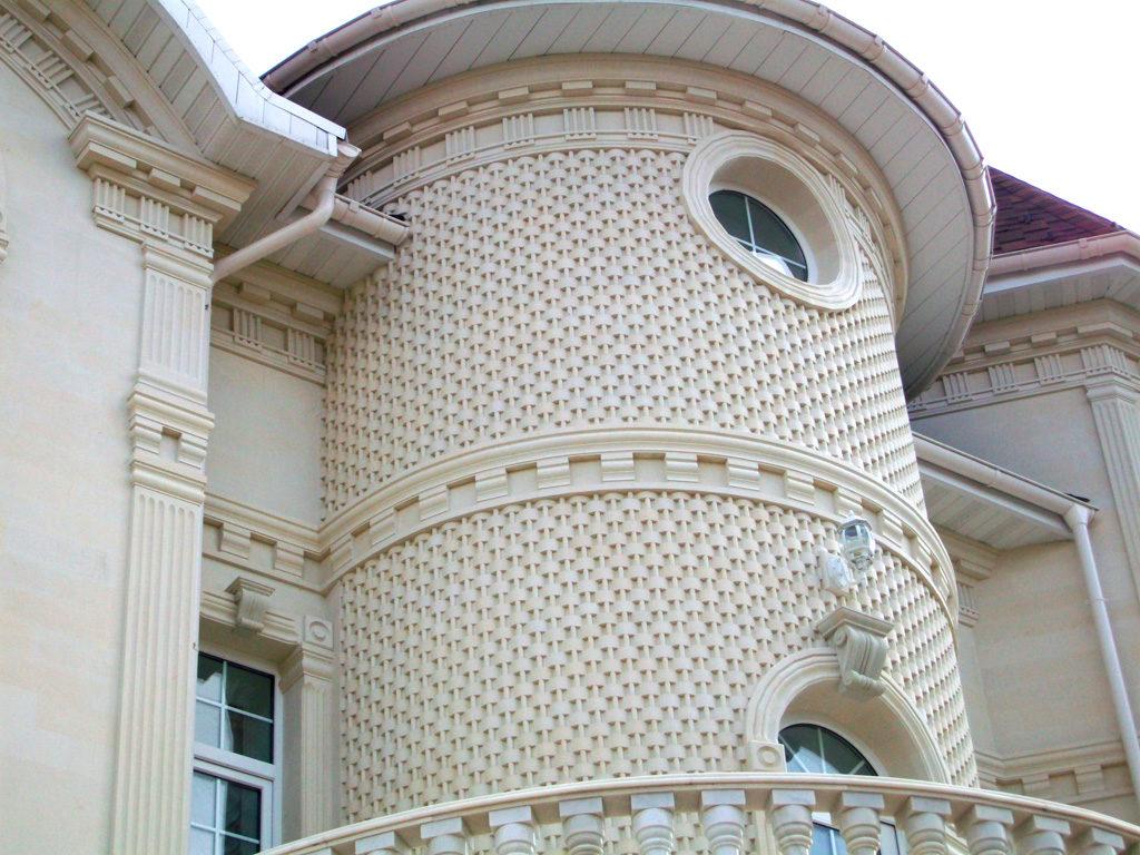 пример фасада из камня