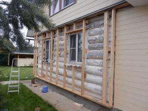 утепление стен снаружи деревянного дома под сайдинг