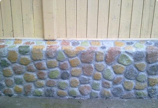 иммитация цоколя под камень