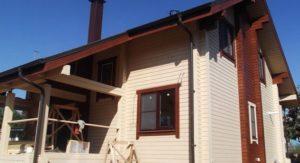 можно покрасить бревенчатый дом снаружи