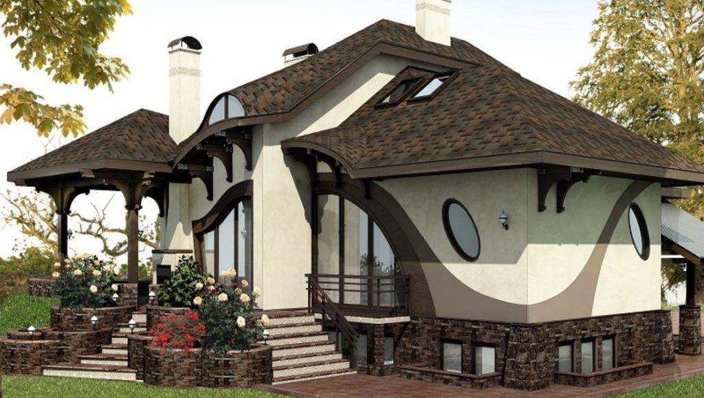 Кантри стиль в фасадах