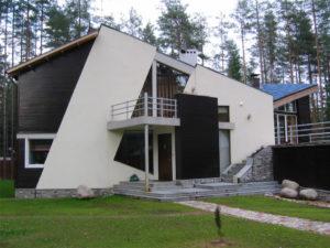 Архитектура фасада в стиле модерн