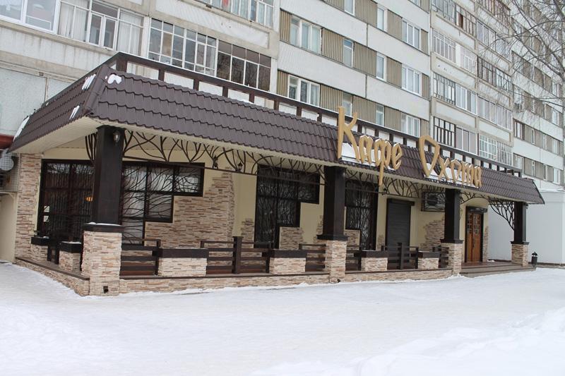 брутальный фасад ресторана