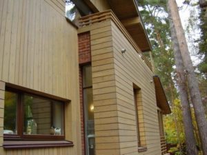 пример фасада из планкена