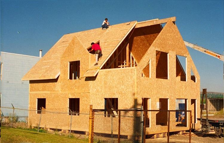 Фото- как обшить дом снаружи осб плитой
