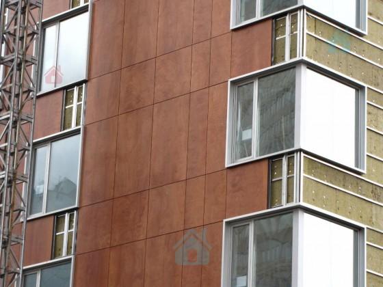 Монтаж Hpl пластика на фасад