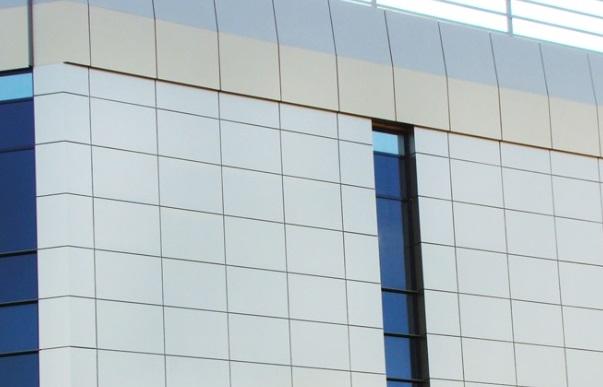 Алюминиевые панели на фасаде