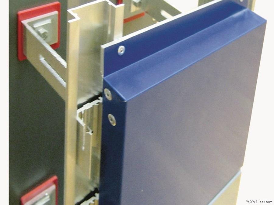 Крепление стальной композитной кассеты к профилю