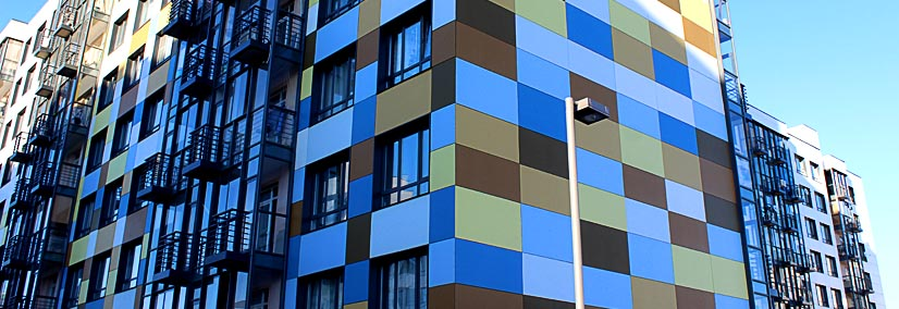 Фасад из фиброцементных плит