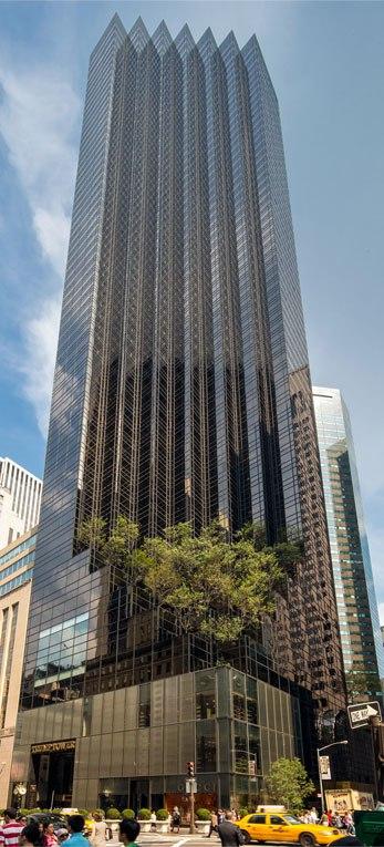 сплошное остекление высотного здания
