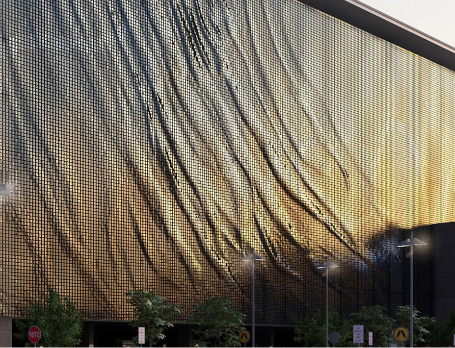 Пример динамического фасада