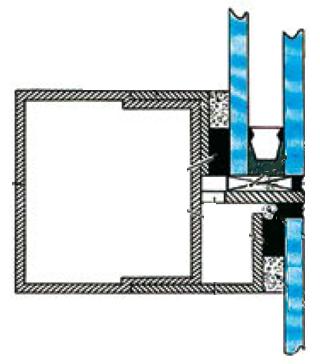 чертеж системы структурного остекления
