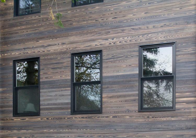 Применение состаренного дерева на фасаде