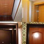 Варианты отделки откосов входной двери своими руками